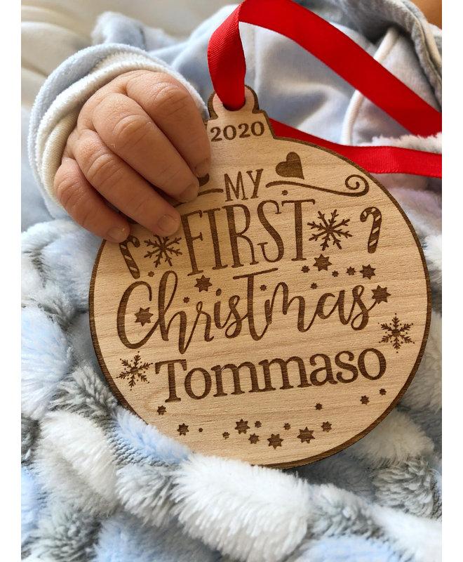 "Houten Ornament ""My First Christmas"""