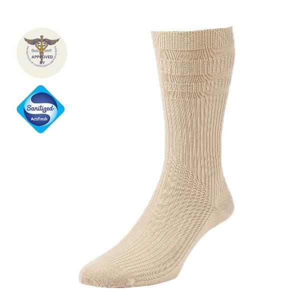 Diabet Socks 19103 Bamboo Extra Wide Oatmeal Socks