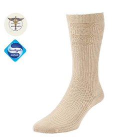 Diabet Socks 19003 Woolen Extra Wide Oatmeal Socks