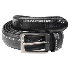 KAM 9161 Big Size Black Leather Belt