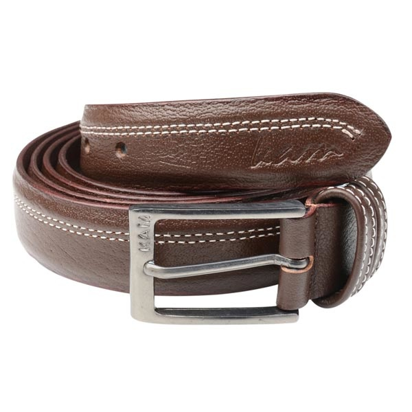 KAM 9166 Big Size Brown Leather Belt
