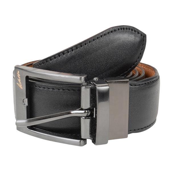 KAM 9211 Big Size Black Leather Belt