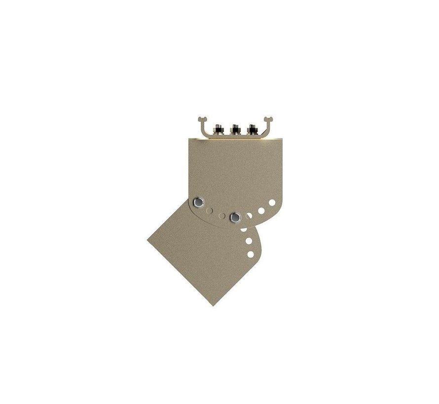 Infrarood terrasverwarmer black heater met 1800 - 2400Watt RC-NR24-13A
