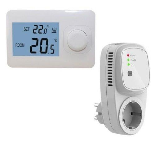 Draadloze eenvoudige thermostaat (Niet programmeerbaar) RF-OPTIMA easy inclusief PLUG in ontvanger