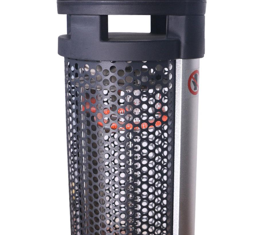 Hoog model glazen infrarood terrasheater tafel 50 cm 1600Watt - QH1695G