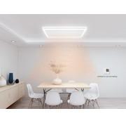 QH remote control infraroodpaneel wit met led verlichting 70 x 70 cm 420Watt