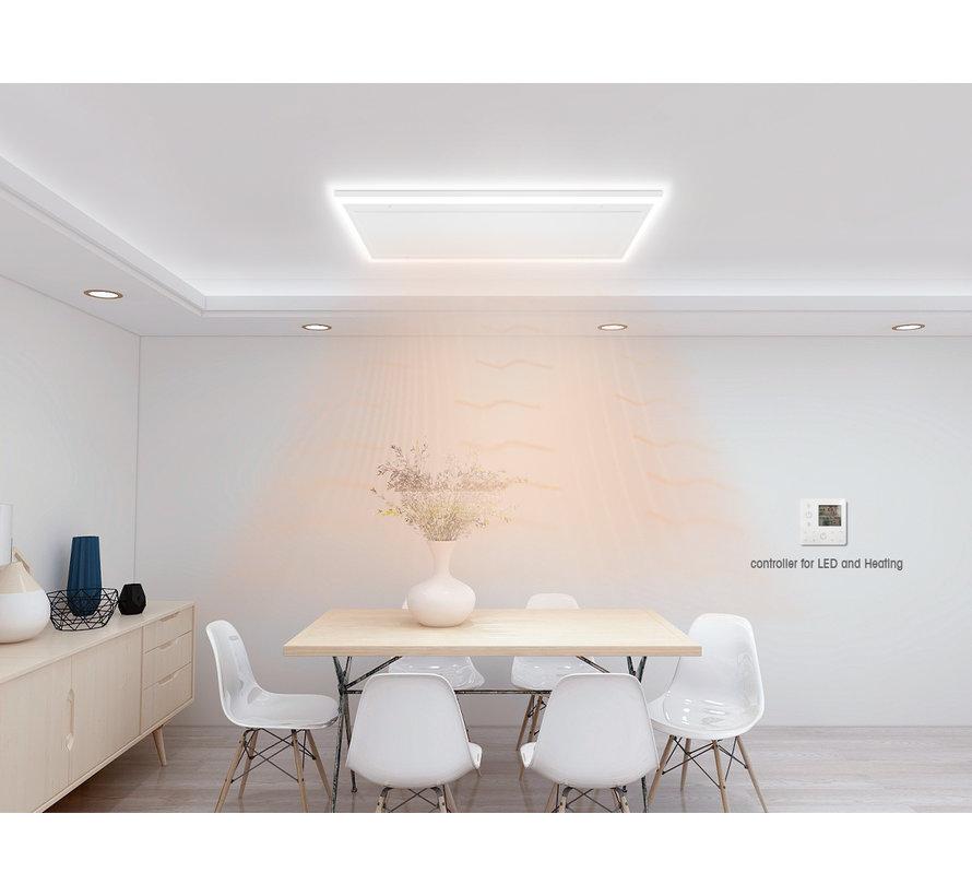 QH remote control infraroodpaneel wit met led verlichting 70 x 130 cm 840Watt