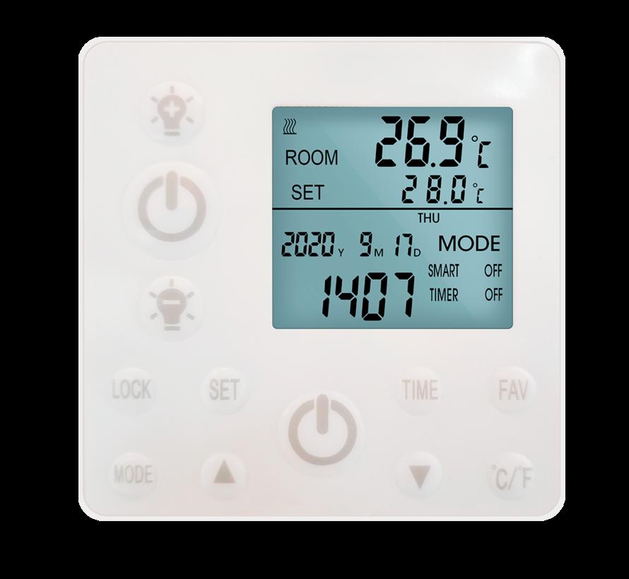 QH remote control infraroodpaneel wit met led verlichting 70 x 110 cm 680Watt