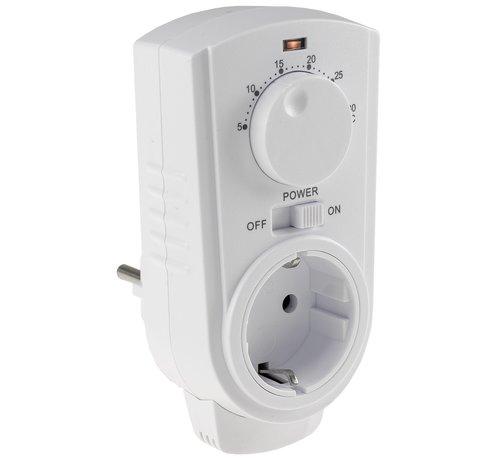 Stopcontact eenvoudige thermostaat met draaiknop