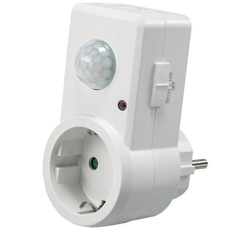 Stopcontact bewegingsmelder aan/uit schakelaar