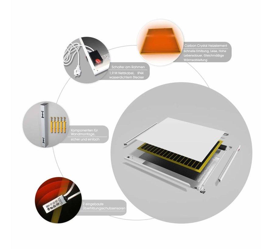 Verplaatsbare infrarood paneel 350, 450, 580 en 700Watt