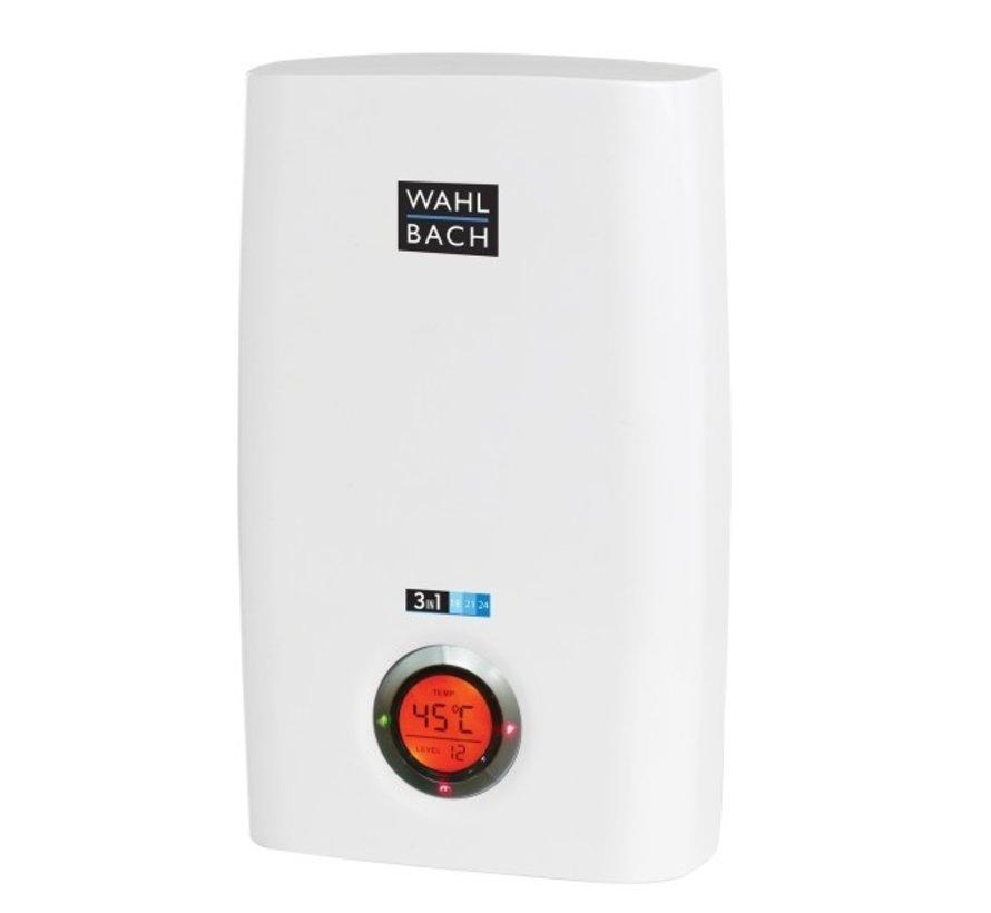 Wahlbach 18-21-24KW doorstroomverwarmer, 18~24KW instelbare temperatuur