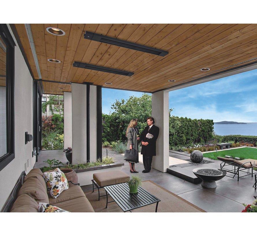 Infrarood terrasheater met afstandsbediening vermogen instelbaar