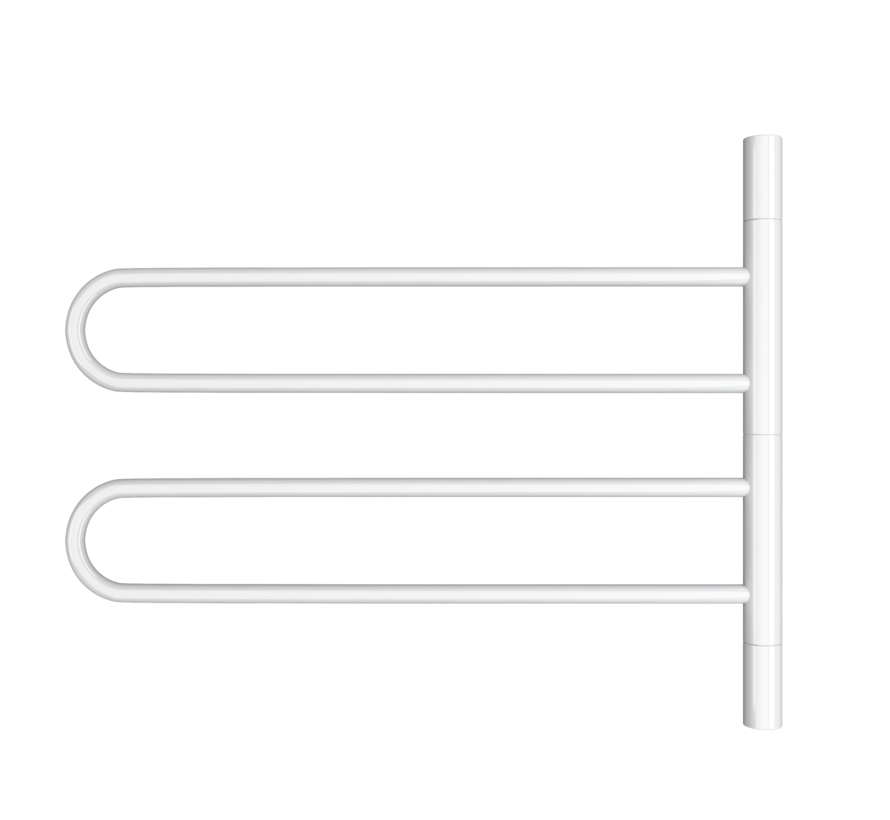Wit en Chrome UR05001 elektrische handdoek radiator - Quality Heating