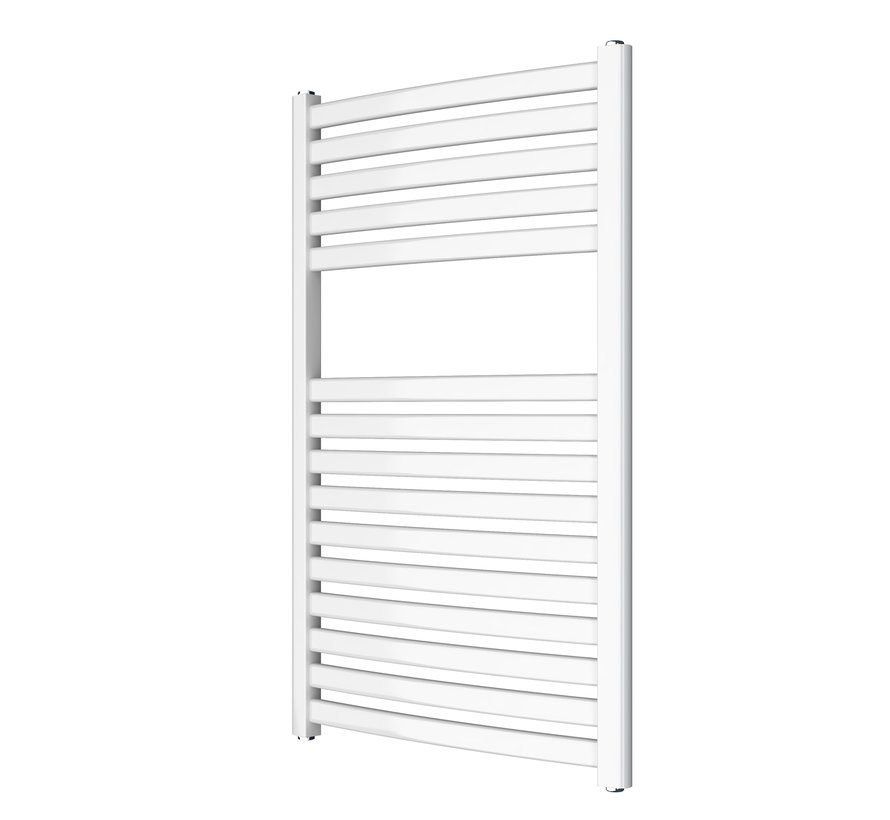 Wit en Chrome AF-SE elektrische handdoek radiator - Quality Heating