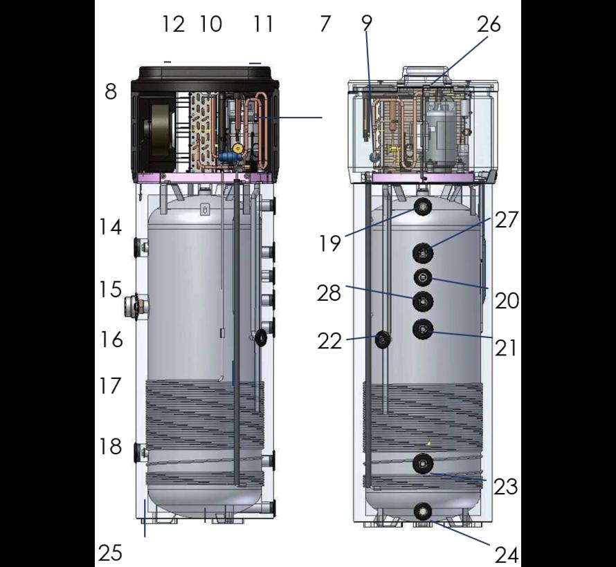 200L Tesy warmtepomp boiler