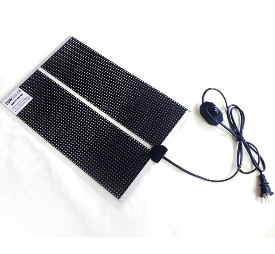 Warmtemat QH 53x28cm met dimmer en Aan/Uit schakelaar