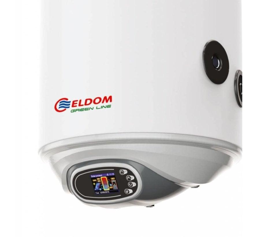 ELDOM Green Line Elektrische boiler 120L met warmtewisselaar en digitale bediening