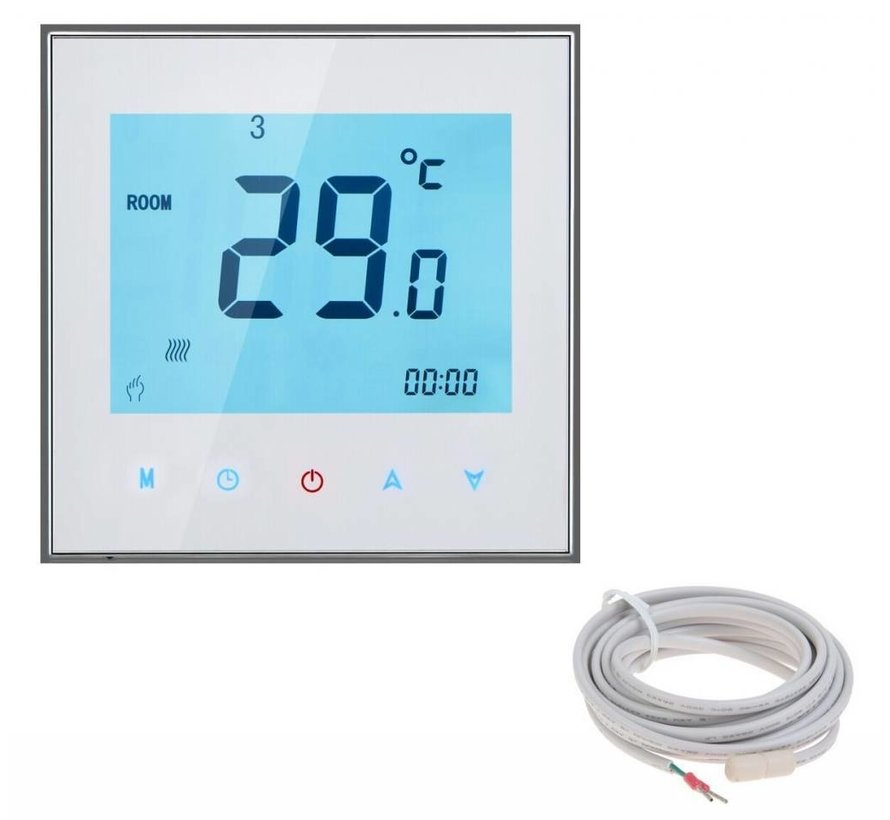 100 Watt elektrische vloerverwarming mat set inclusief Soft Touch 7-Daags Programmeerbare thermostaat