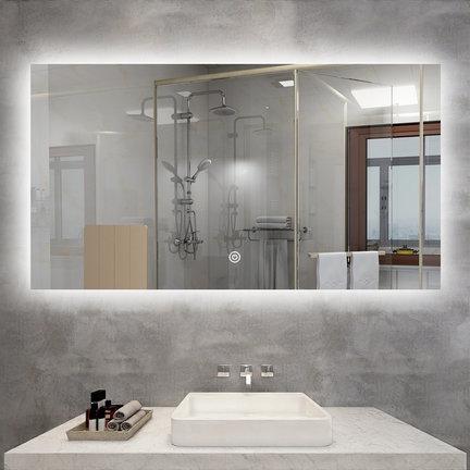 Stijlvolle badkamerspiegels zonder frame