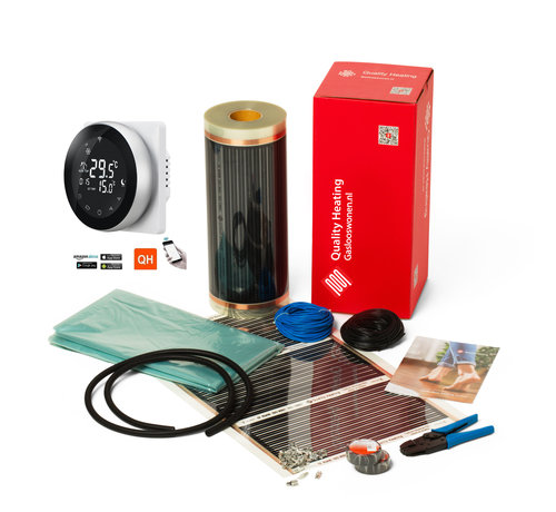 Quality Heating 120Watt m² folie set Wifi design PRF-80