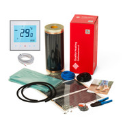 Quality Heating 100Watt m² folie set programmeerbaar wit of zwart
