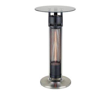 Hoog model glazen infrarood terrasheater tafel 1600Watt
