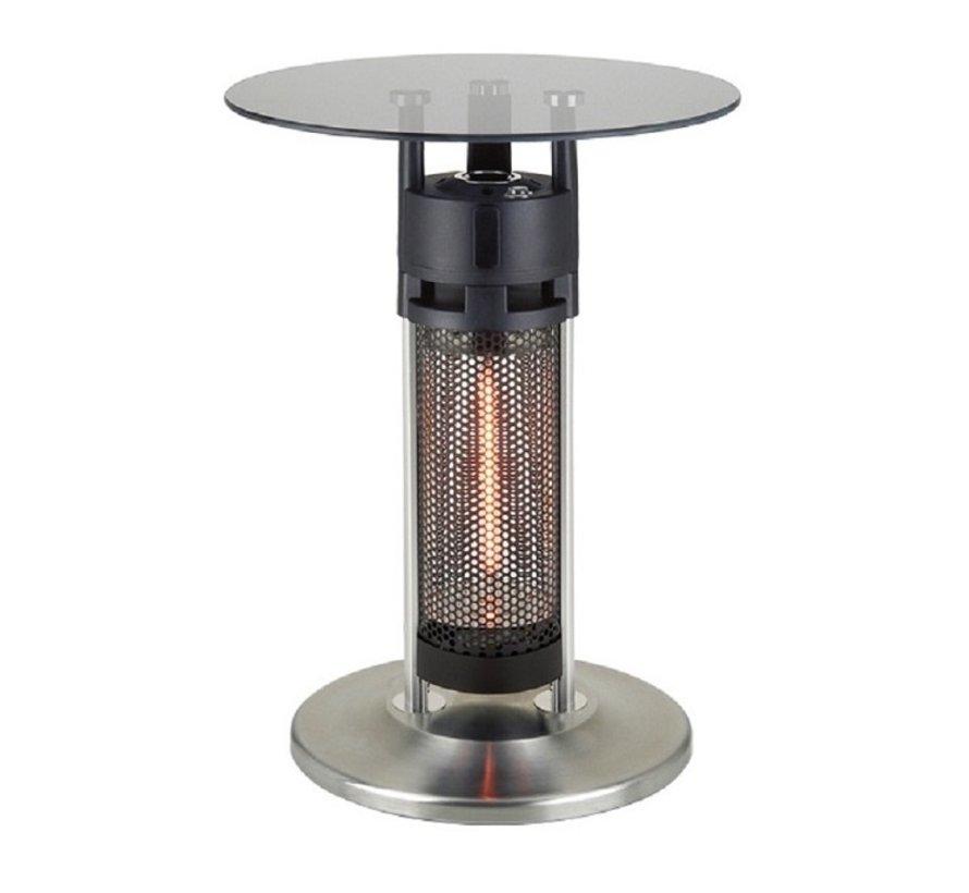 Laag model glazen infrarood terrasheater tafel 1200Watt