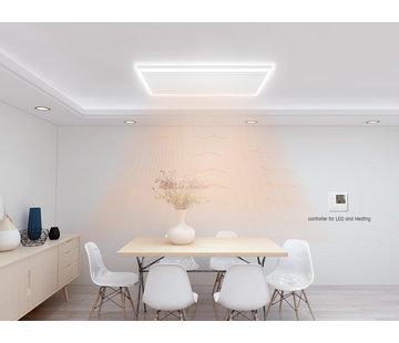 Quality Heating QH remote control infrarood paneel wit met led verlichting 70 x 110 cm 600Watt