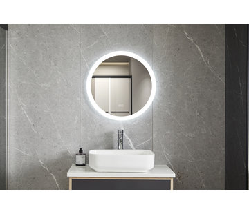 Bella Mirror Spiegel rond 60 cm frameloos, inbouw led verlichting en anti condens