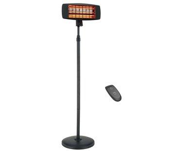 Quality Heating Infrarood terrasheater verplaatsbaar 650W, 1300W, 2000W met afstandsbediening