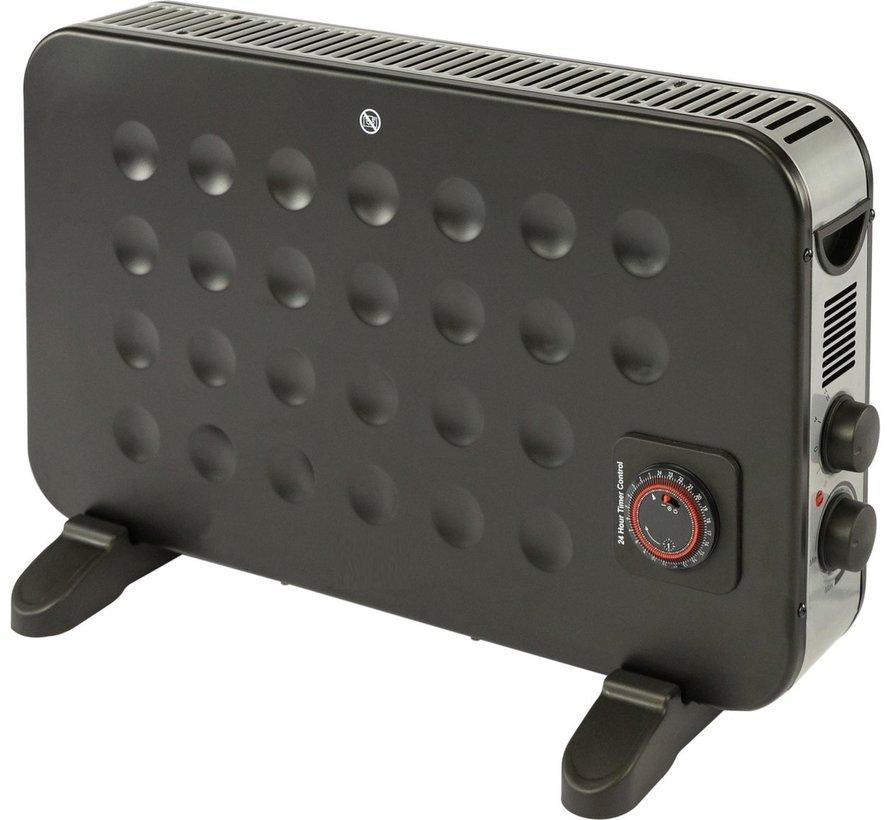Turbo 2000Watt convector elektrische kachel wand en vrijstaand met timer en vermogen instelbaar