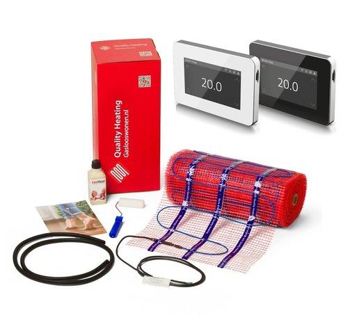 Quality Heating 100 Watt elektrische vloerverwarming mat set inclusief Wifi design thermostaat V1