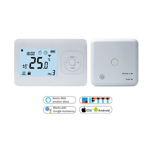 Quality Heating Wifi draadloos programmeerbare thermostaat met ontvanger