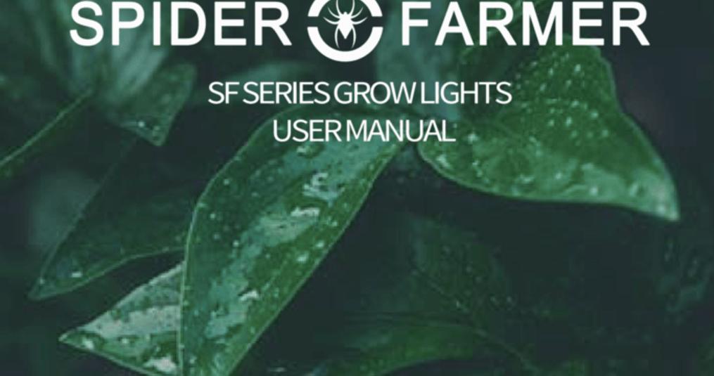 Handleiding en specificaties van de Spider Farmer LED