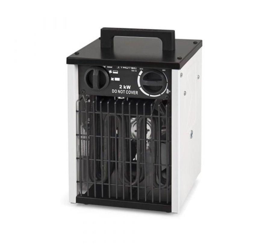 Trotec TDS 10 Elektrische Kachel 2kW inclusief thermostaat 230 volt