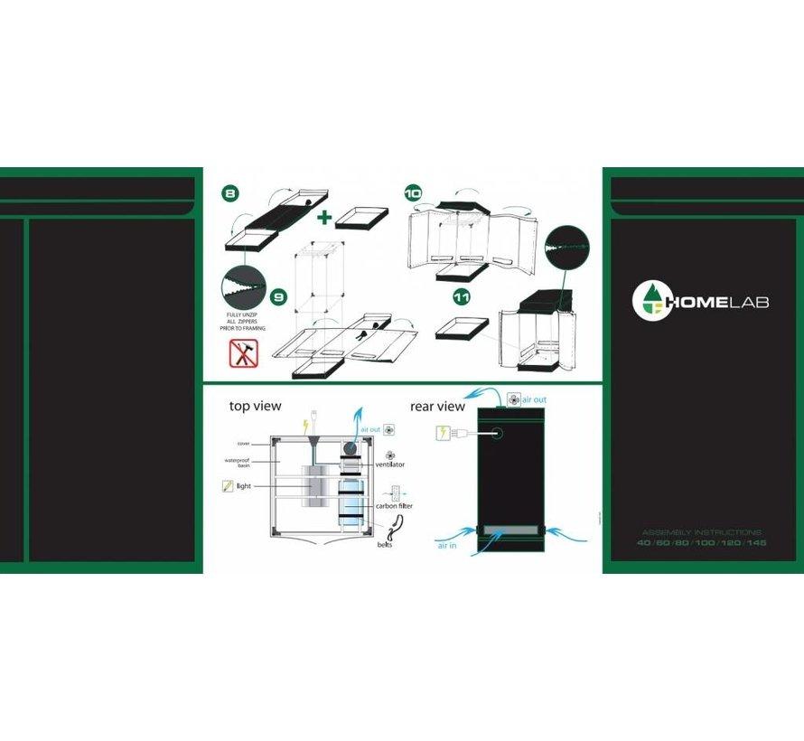 HomeLab 80L Kweektent- 80x150x200cm