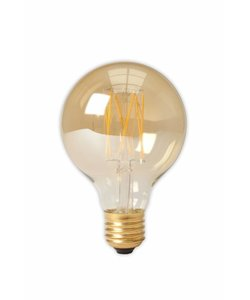 Calex G80 LED Filament Globe lamp Gold