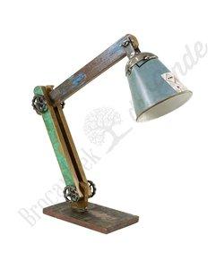 """Bureaulamp """"Wood & Grey Iron"""""""