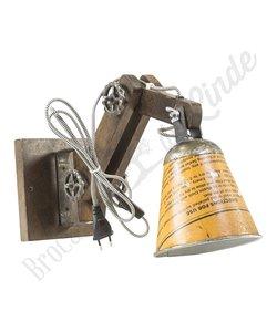 """Wandlamp """"Wood & Iron - geel"""""""