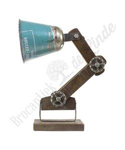 """Wandlamp """"Wood & Blue Iron"""""""