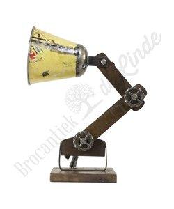 "Wandlamp ""Wood & Yellow Iron"""