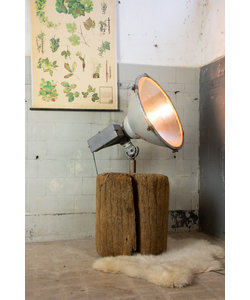 """Stadionlamp op houten blok """"Arena"""" - omgebouwd"""