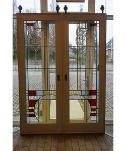 Art Deco en suite deuren met glas in lood
