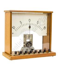 Vintage houten ampere meter