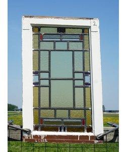 78 x 49 cm - Glas in lood raam No. 2