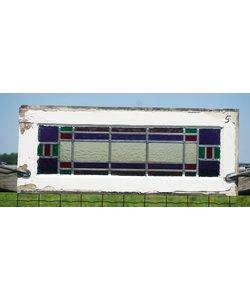 30,5 x 76,5 cm - Glas in lood raam No. 5