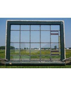 63,5 x 82,5 cm - Glas in lood raam No. 7