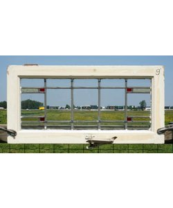 38,5 x 77,5 cm - Glas in lood raam No. 9