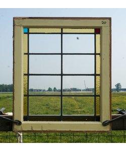 67 x 57 cm - Glas in lood raam No. 20
